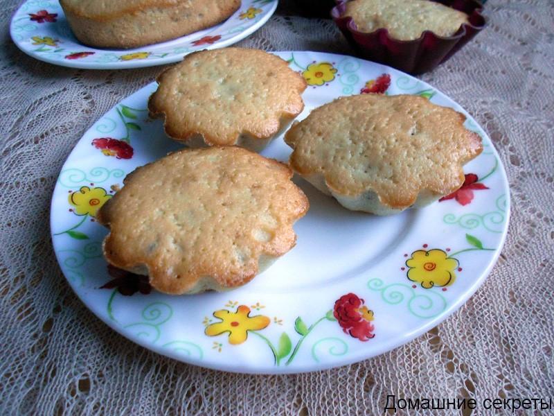 Кекс с грецкими орехами, испеченный в духовке