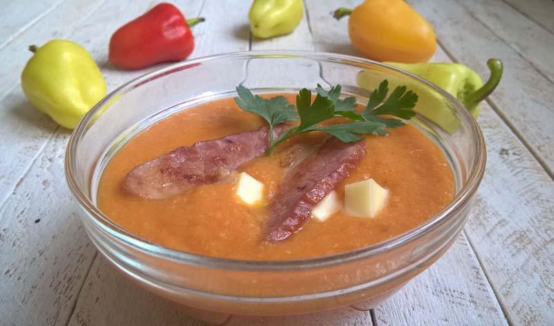 суп пюре из тыквы и бекона