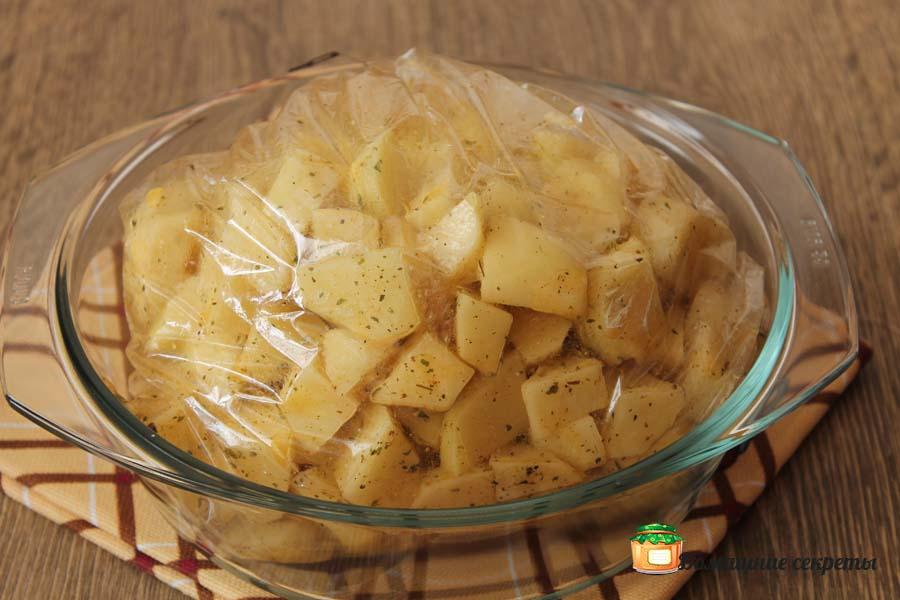 Золотистая картошечка в микроволновке за 5 минут